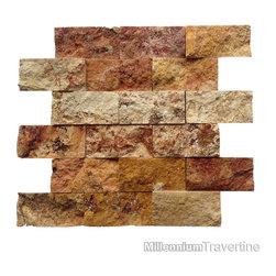 Autumn Blend 2x4 Travertine Split Face - http://www.millenniumtravertine.com