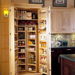 Cabinetry Accessories - Tall Chef Pantry - Wood-Mode Cabinetry - Heart of the Home Kitchens