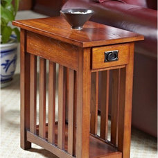 Leick Solid Ash Mission Chairside End Table - End Tables at Hayneedle