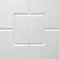 IDS Group - 2x2 White Decorative Ceiling Tiles, Nashville Design - Total Coverage: 32 SqFt (Box of 8)