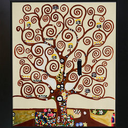 overstockArt.com - Klimt - Tree of Life Oil Painting - Hand painted oil reproduction of a famous Klimt painting, Tree of Life. The original masterpiece was created in 1909. Today it has been carefully recreated detail-by-detail, color-by-color to near perfection. Gustav Klimt (1862-1918) was one of the most innovative and controversial artists of the early twentieth century. Influenced by European avant-garde movements represented in the annual Secession exhibitions, Klimt's mature style combines richly decorative surface patterning with complex symbolism and allegory, often with overtly erotic content. This work of art has the same emotions and beauty as the original. Why not grace your home with this reproduced masterpiece? It is sure to bring many admirers!