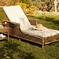 Saybrook All-Weather Wicker Single Chaise - This is a nice style for a comfortable chaise.