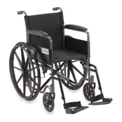 Drive Medical - Drive Medical Silver Sport Wheelchair with Full Arms and Swing Away Removable Fo - Built out of a steel frame for durability this wheelchair comes in an attractive powder-coated, easy-to-maintain silver vein finish. The urethane tires are mounted on composite wheels to reduce maintenance and provide a smooth ride over most surfaces.
