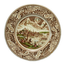 Lavish Shoestring - Consigned 6 Dinner Plates Historic America by Johnson Brothers, Vintage English - This is a vintage one-of-a-kind item.