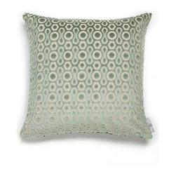 Mac Meckley - Pale Blue Mod, Accent Pillow Case - Accent Pillow (same fabric on both sides)