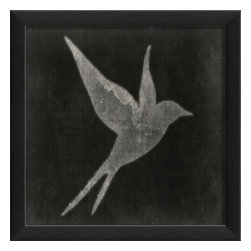 The Artwork Factory - Bird on Black 4 Framed Poster - Made in the USA.
