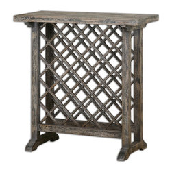 Joshua Marshal - Annileise Wooden Wine Table - Annileise Wooden Wine Table