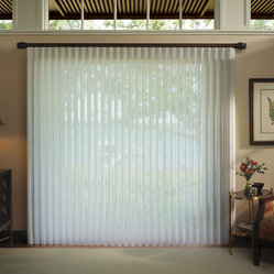 Vertical Blinds - Hunter Douglas Luminette Privacy Sheers - Chesterfield, Mo - Luminette Privacy Sheers look beautiful as a vertical blind. Hunter Douglas Luminette Privacy Sheers are traditional and elegant.