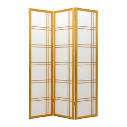 Extra-Tall Shoji Screen w Honey Finish and Double-Cross Grids - Add some Asian style to your home with this shoji screen. It will give you some much needed privacy, yet does not block off the light. It's making me want to put a tea room in my house right now!