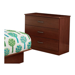 South Shore - South Shore Libra 3 Drawer Chest in Royal Cherry - South Shore - Kids Dressers - 3046033 - This contemporary style 3-drawer chest features simple lines that will blend right into any d��cor. It offers closed storage to serve your needs and rounded corners for safety.