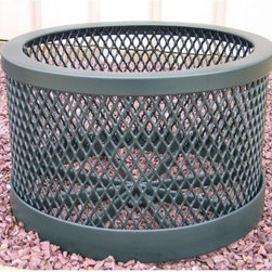 Premier Polysteel Round Expanded Metal Planter - The Premier Polysteel Round Expanded Metal Planter uses clean lines slightly rounded edges and an open mesh pattern to bring a relaxed feel to any setting. It is available in a variety of popular colors to complement your landscape. This piece features resilient all-steel construction and a simple round design that will make an appealing addition to any environment.This planter is completely plastisol-coated to protect against the elements. A thick 1/8-inch coating of UV-treated and mildew-resistant plastisol is added to create a finished product that is unequaled in strength and durability. To ensure a strong bond all steel is cleaned and primed before coating with plastisol. Only high-quality stainless steel hardware is used.About A.D.A. Enterprises/Premier PolysteelWhat began as a steel manufacturer is now an enterprise that creates 100% plastic-coated steel outdoor furniture. A.D.A. Enterprises which owns Premier Polysteel offers a wide line of benches picnic tables trash receptacles bike racks umbrellas and grills. Located in Northwood Iowa A.D.A. takes pride in the high quality of their products. These products are sturdily built and completely coated in UV-stabilized plastisol. Durable excellently crafted outdoor furniture is what A.D.A. is all about.