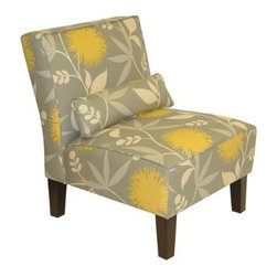 Polly Slipper Chair - Dove - OMG! Thomas Paul fabric, a contemporary upholstered chair, and a Target price? There is no way these will last long.