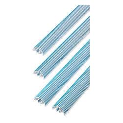 75Pcs Bulk Pant Mates - bulk pants hanger mates1.6 oz each. 14 5/8in long x 5/8in h x 1in w white plastic with blue strips.