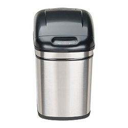 Nine Stars - Stainless Steel Motion Sensor 6.3-gallon Trash Can - Nine Stars trash can features an automatic lid that opens via motion detectorInnovative trash receptacle reduces cross-contaminationAutomatic trash can makes dealing with rubbish cleaner and easier than ever