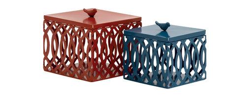 Big, Bold and Unique Metal Box, Set of 2 - Description: