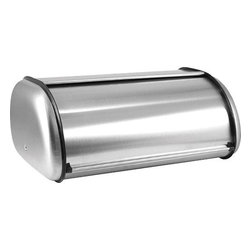 Anchor Hocking - Brushed Steel Bread Box Euro - Anchor Hocking 08994MR Brushed Steel Bread Box - This is a very attractive Euro design brushed Stainless Steel bread box used for keeping your bread fresh. Can also be used for cookies and crackers.