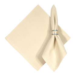 "Traders and Company - Hand Woven 100% Cotton Solid Natural 22""x22"" Napkins, Set of 6 - Natural - Imported hand-loomed 100% cotton napkins add a mark of color and elegance to your dining table. Napkin ring not included. Machine washable with similar colors in cold water, and cool dry. Made in India."