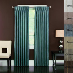 None - Brielle 'Spring Street' Pinch Pleated Lined Curtain Panel - Bring subtle elegance to your home with this attractive window curtain panel. Featuring a rustic pinch pleated stripe design,this charming panel is complete with back tab hanging and polyester lining for a charming addition to your living space.