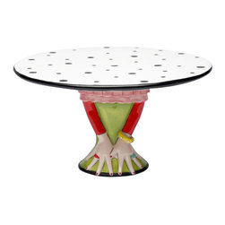 ATD - 9.5 Inch Diameter Red, Green, and White Dilly Dots Medium Cake Stand - This gorgeous 9.5 Inch Diameter Red, Green, and White Dilly Dots Medium Cake Stand has the finest details and highest quality you will find anywhere! 9.5 Inch Diameter Red, Green, and White Dilly Dots Medium Cake Stand is truly remarkable.