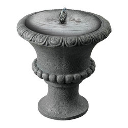 Garden Urn Solar Table Top Fountain - The Garden Urn Solar Table Top Fountain uses the power of the sun to create a stunning recirculating fountain. At just 12 Inch high, this small urn makes a perfect accent to smaller gardens and patios. No power cords and a perfectly portable size mean you can display the fountain just about anywhere.