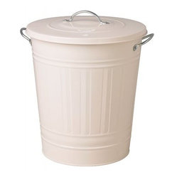 KNODD Bin With Lid, White