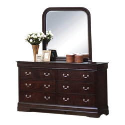 Coaster - Coaster Louis Philippe Dresser and Mirror Set in Cappuccino - Coaster - Dressers - 203983N203984NPKG