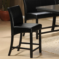 Homelegance - Homelegance Papario Counter Height Chair - Black - 5351-24 - Shop for Dining Chairs from Hayneedle.com! Sleek and smooth the Homelegance Papario Counter Height Chair Black is the perfect contemporary seat for dining table and counter spaces. Made of Asian wood this handy chair features an all-black finish. Easy to clean its bi-cast vinyl upholstery is sure to match many decors.About Homelegance Inc.Homelegance takes pride in offering only the highest quality home furnishings that incorporate innovative design at the best value. From dining sets to mirrors sofas and accessories Homelegance strives to provide customers with a wide breadth and depth of selection as well as the most complete and satisfying service available for their category. Homelegance distribution centers are conveniently located throughout the United States and Canada.
