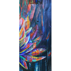 """""""Cut To The Roots"""" (Original) By Michael Bond - This Piece Uses The Image Of A Lotus Flower To Illustrate The Concept Of Cutting To The Roots To Remove The Duality Of Existence And Experience Oneness. The Concept Of Non-Duality Is Known As Advaita Vedanta, Or """"One, Not Two"""", A Major Spiritual And Philosophical Aspect Of Santana Dharma, """"The Eternal Path""""."""