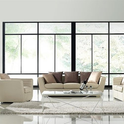 Robinson 3-Pieced Leather Sofa Set - This 3-pieced sofa set will be a wonderful center piece to either your modern or traditional home for years to come.