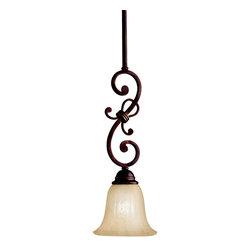Kichler Lighting - Kichler Lighting 3489CZ Wilton Carre Bronze Mini Pendant - Kichler Lighting 3489CZ Wilton Carre Bronze Mini Pendant