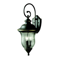 Kichler - Kichler Sausalito 3-Light Olde Bronze Wall Lantern - 9492OZ - This 3-Light Wall Lantern is part of the Sausalito Collection and has an Olde Bronze Finish. It is Outdoor Capable.