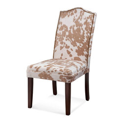 Bassett Mirror Company - Bassett Mirror Camelback Nailhead Parsons in Palamino [Set of 2] - Camelback Nailhead Parsons in Palamino belongs to Other Collection by Bassett Mirror Company Camelback Nailhead Parsons in Palamino Dining Chair (2)