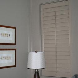 "Lafayette Venetian Blind - Wood Shutters - Wooden Shutters with 3 1/2"" louvers"