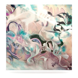 """Kess InHouse - Mat Miller """"Fluidity"""" Metal Luxe Panel (8"""" x 8"""") - Our luxe KESS InHouse art panels are the perfect addition to your super fab living room, dining room, bedroom or bathroom. Heck, we have customers that have them in their sunrooms. These items are the art equivalent to flat screens. They offer a bright splash of color in a sleek and elegant way. They are available in square and rectangle sizes. Comes with a shadow mount for an even sleeker finish. By infusing the dyes of the artwork directly onto specially coated metal panels, the artwork is extremely durable and will showcase the exceptional detail. Use them together to make large art installations or showcase them individually. Our KESS InHouse Art Panels will jump off your walls. We can't wait to see what our interior design savvy clients will come up with next."""