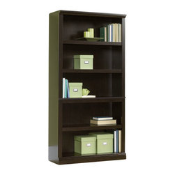 Sauder - Sauder Storage Five Shelf Bookcase in Jamocha Wood Finish - Sauder - Bookcases - 410375