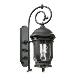 Quorum International - Quorum International 7181-4-95 Summit Old World Outdoor Wall Sconce - Quorum International 7181-4-95 Summit Black Outdoor Wall Sconce