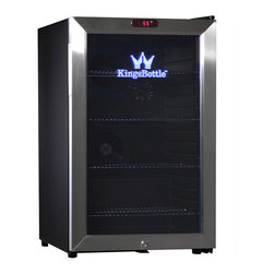 KingsBottle - KingsBottle Stainless Steel 66-can Compressor Mini Bar Fridge - Keep your home bar fully stocked with this KingsBottle mini bar fridge. Store up to 66 cans in one small area,and trust the durable stainless steel to keep the cool air in and your stock safe.