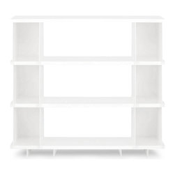 Blu Dot - Blu Dot SHILF Version 2.0, White - Modern shelving... cafeteria style. What better way to showcase your Vonnegut collection alongside your beloved knickknacks than the SHILF modular shelving system. Combine steel components as you see fit without tools or hardware. Your collection will be the talk of the town. Available in ivory or matte black powder-coat.