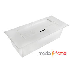 Moda Flame - Moda Flame 3L Ethanol Fireplace Burner Insert - Moda Flame 3 liter ethanol fireplace insert burner box can be used in most settings where you want to have a naked flame. Placed discretely into a already existing fireplace or you could make an effective lighting choice outdoors built into your garden. Recommended to be used with Moda Fuel ethanol fireplace fuel which provides a smokeless and odor free easy accessible fuel.