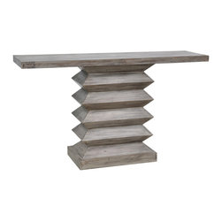 Mina Console Table - That table base! Any furniture piece with a nod to architecture is a score in my book.