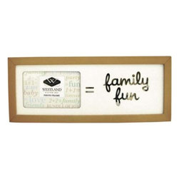 "WL - 2 x 3 Inch "" = Family Fun"" Message Collectible Brown Photo Frame - This gorgeous 2 x 3 Inch "" = Family Fun"" Message Collectible Brown Photo Frame has the finest details and highest quality you will find anywhere! 2 x 3 Inch "" = Family Fun"" Message Collectible Brown Photo Frame is truly remarkable."