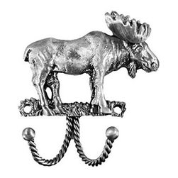Sierra Lifestyles Decorative Hook - Moose - Pewter - Get Idea About Sierra Lifestyles Decorative Hook - Moose - Pewter. Sierra Lifestyles  Cabinet Hardware, Cabinet  Knobs, Cabinet Pulls , Switch plates, Rustic cabinet hardware, Double Hook, Hook, Decorative Hook, Knobs, Pulls and Decorative Hardware Accessories
