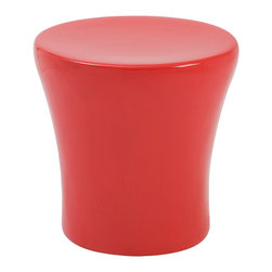 Euro Style - Euro Style Takis Stool 25860RED - Great seats wherever you need them. Takis is a simple shape that provides a comfortable seat that gently tapers down to a slightly narrower base. Fiberglass. Light weight and versatile.