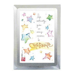 Westland - 4 x 6 Inch Silver-edged Celebrate Musical Frame with Colorful Stars - This gorgeous 4 x 6 Inch Silver-edged Celebrate Musical Frame with Colorful Stars has the finest details and highest quality you will find anywhere! 4 x 6 Inch Silver-edged Celebrate Musical Frame with Colorful Stars is truly remarkable.