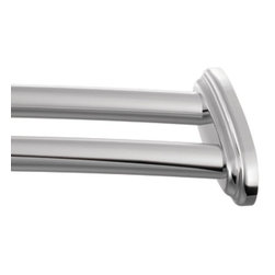 "Moen - Moen Creative Specialties 60 Double Curved Shower Rod, Chrome (DN2141CH) - Moen DN2141CH Creative Specialties 60"" Double Curved Shower Rod, Chrome"