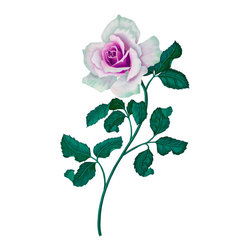 Murals Your Way - Mulberry Mint Rose Wall Art - Painted by Eric Beare, Mulberry Mint Rose wall mural from Murals Your Way will add a distinctive touch to any room