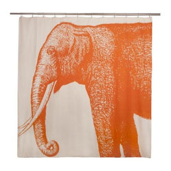 Thomas Paul Elephant Shower Curtain