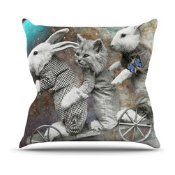"""Kess InHouse - Suzanne Carter """"Space Travel"""" Throw Pillow (Outdoor, 18"""" x 18"""") - Decorate your backyard, patio or even take it on a picnic with the Kess Inhouse outdoor throw pillow! Complete your backyard by adding unique artwork, patterns, illustrations and colors! Be the envy of your neighbors and friends with this long lasting outdoor artistic and innovative pillow. These pillows are printed on both sides for added pizzazz!"""