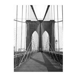 Artehouse New York Bridge Art Print - 18W x 24H in. - New York Bridge is an artistically captivating view of one of the most iconic bridges in the world the Brooklyn Bridge. This limited edition black and white photo is printed on quality Somerset Velvet paper and comes ready for framing. The print measures 24L x 18 inches high and is a fantastic gift idea for bridge enthusiasts or collector's of retro art.