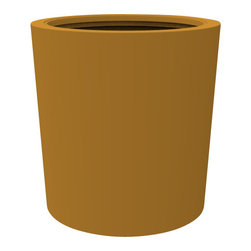 Decorpro - Medium Vienna Planter, Spanish Gold - The Vienna planter is a more traditionally shaped pot. The round shape allows this planter to fit in with a wide variety of settings both indoors and outdoors.